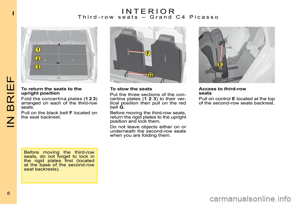 Citroen C4 PICASSO 2008 1.G Owners Manual, Page 5