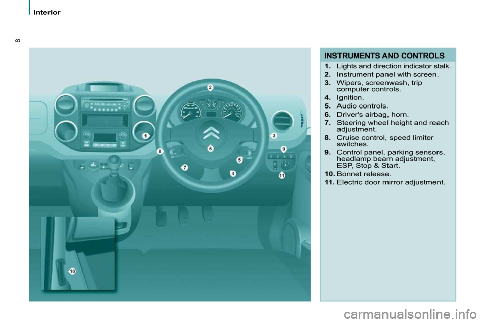 Citroen BERLINGO 2011 2.G Owners Manual, Page 3