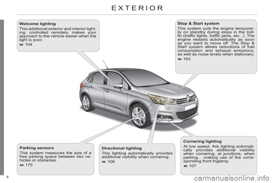 Citroen C4 2012 2.G Owners Manual, Page 6