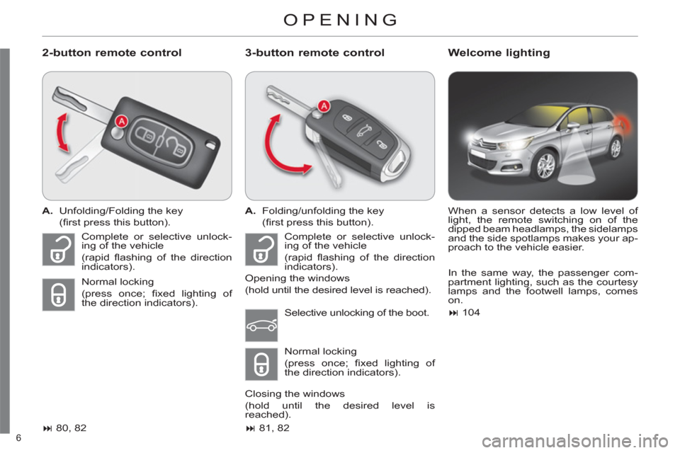 Citroen C4 2012 2.G Owners Manual, Page 8