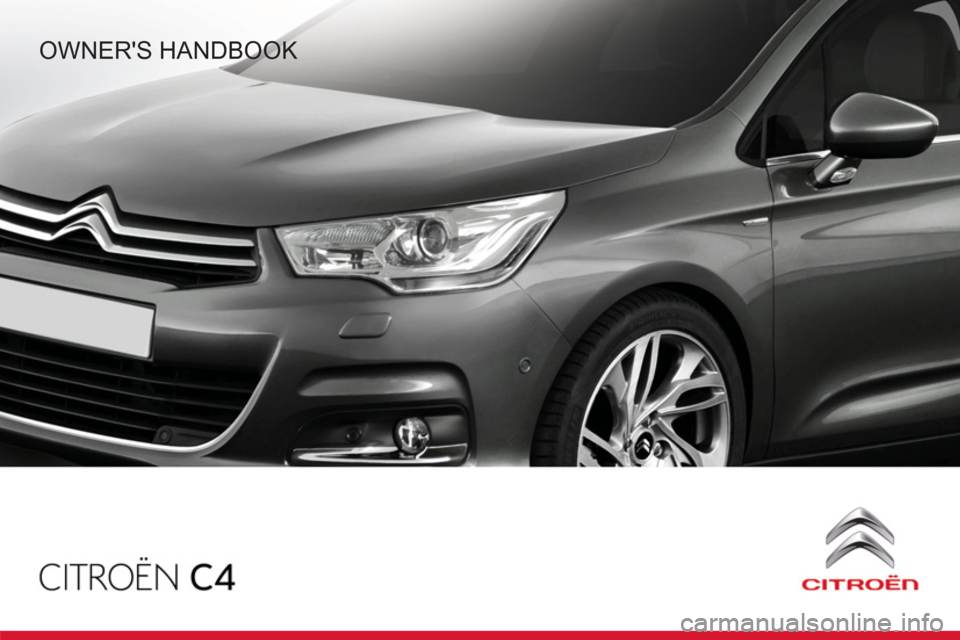 Citroen C4 RHD 2012 2.G Owners Manual, Page 1