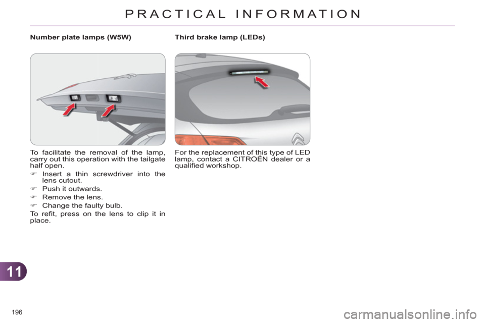 Citroen C4 RHD 2012 2.G Owners Manual, Page 198