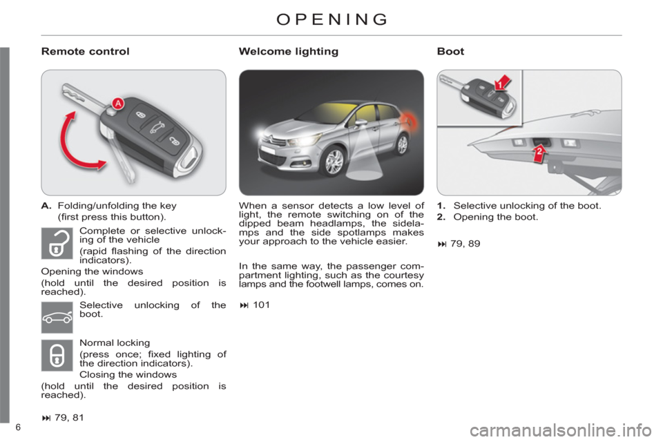 Citroen C4 RHD 2012 2.G Owners Manual, Page 8