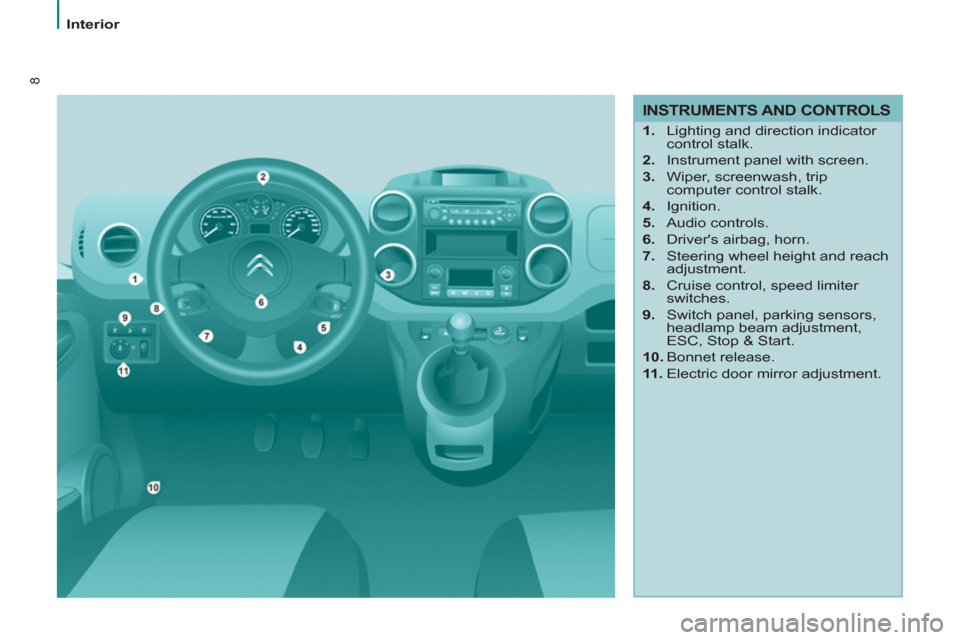 Citroen BERLINGO 2013 2.G Owners Manual, Page 10