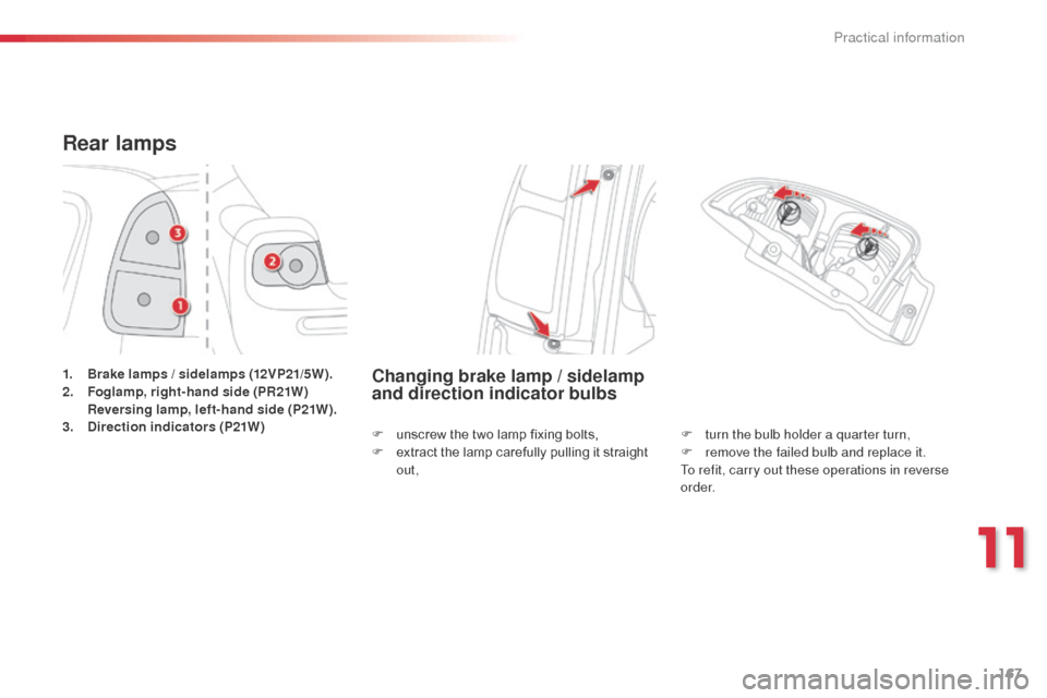 Citroen C3 PICASSO RHD 2014 1.G Owners Manual, Page 169