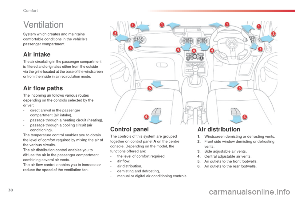Citroen C3 PICASSO RHD 2014 1.G Owners Guide, Page 40