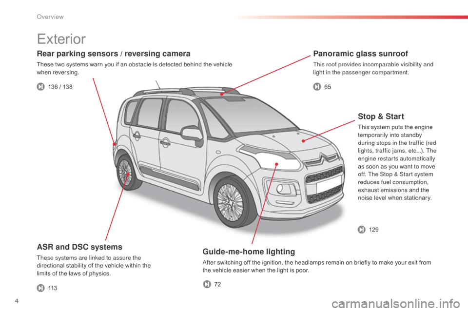 Citroen C3 PICASSO RHD 2014 1.G Owners Manual, Page 6