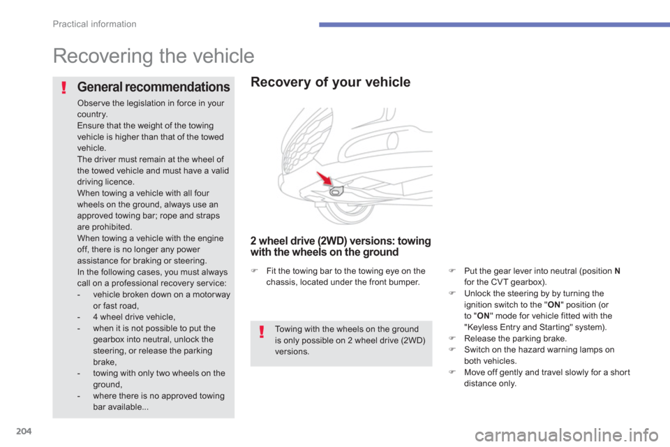 Citroen C4 AIRCROSS 2014 1.G Owners Manual, Page 206