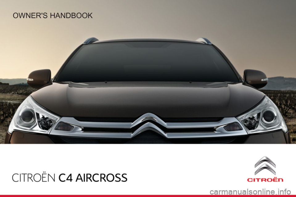 Citroen C4 AIRCROSS RHD 2014 1.G Owners Manual, Page 1