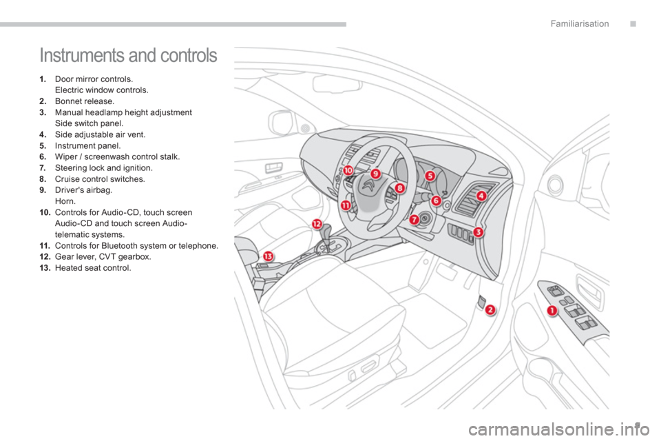 Citroen C4 AIRCROSS RHD 2014 1.G User Guide, Page 11