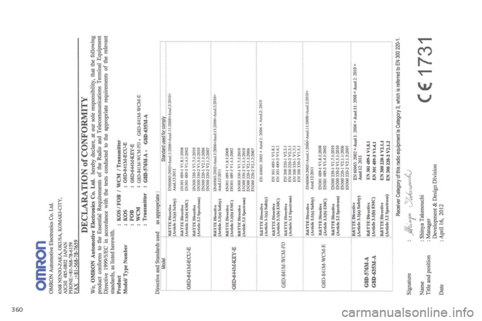 Citroen C4 AIRCROSS RHD 2014 1.G Owners Manual, Page 362