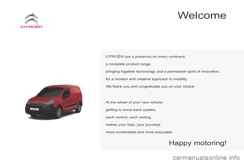 Citroen BERLINGO 2015.5 2.G Owners Manual, Page 3