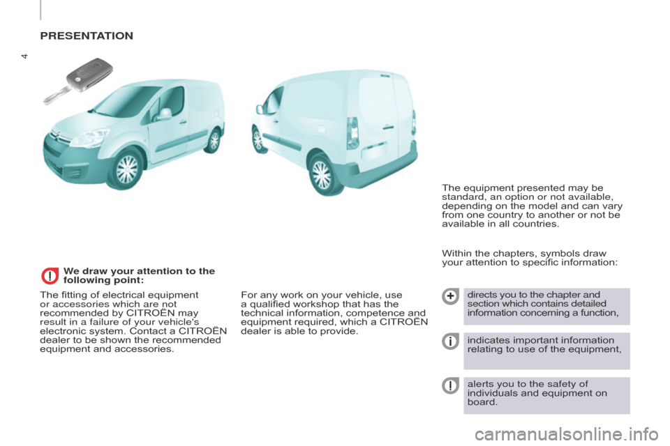 Citroen BERLINGO 2015.5 2.G Owners Manual, Page 6