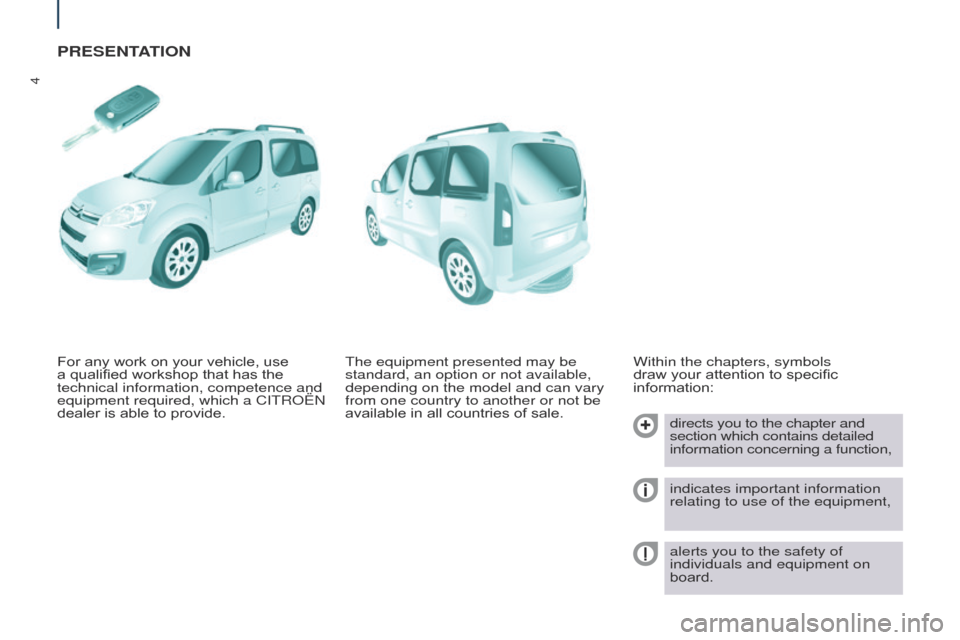 Citroen BERLINGO 2017 2.G Owners Manual, Page 6